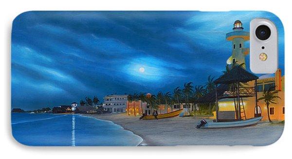 Playa De Noche IPhone Case by Angel Ortiz