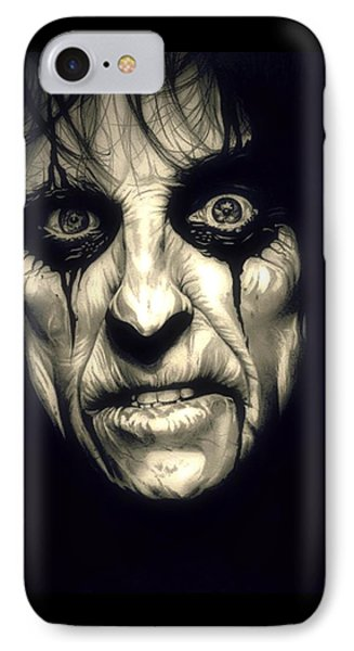 Poison Alice Cooper IPhone 7 Case by Fred Larucci