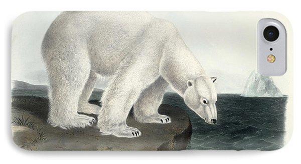 Polar Bear IPhone Case by John James Audubon