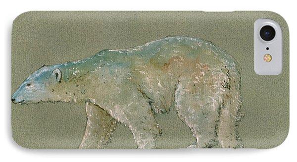Polar Bear Original Watercolor Painting Art IPhone 7 Case by Juan  Bosco