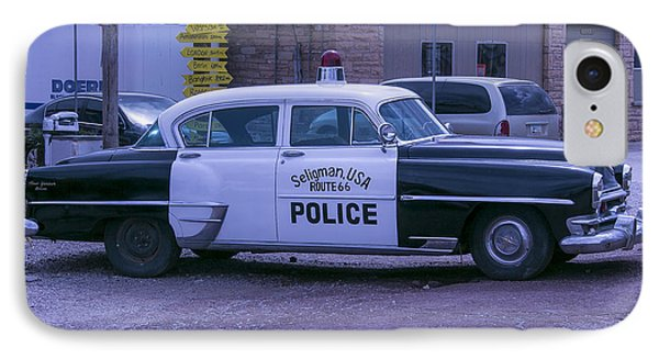 Police Car Seligman Azorina IPhone Case by Garry Gay