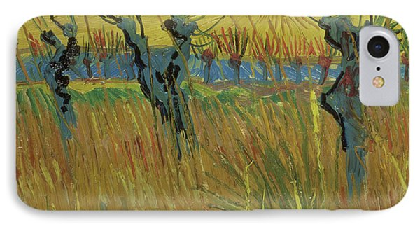 Pollarded Willows And Setting Sun Phone Case by Vincent Van Gogh