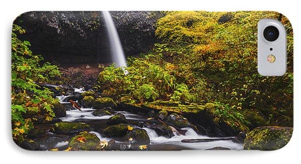 Ponytail Falls Autumn IPhone Case by Vishwanath Bhat