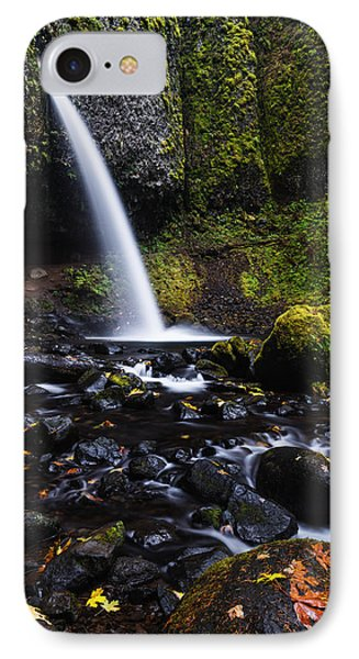 Ponytail Falls In Columbia River Gorge In Autumn IPhone Case by Vishwanath Bhat