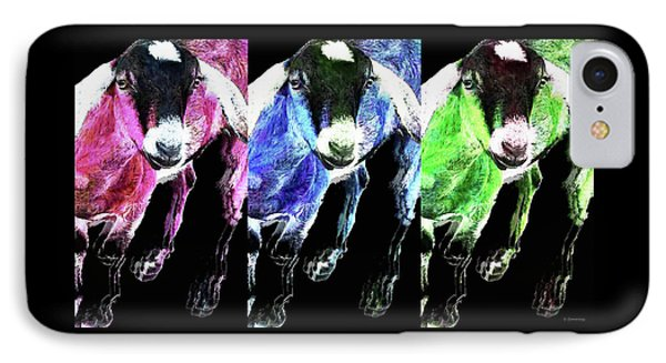 Pop Art Goats Trio - Sharon Cummings IPhone Case by Sharon Cummings