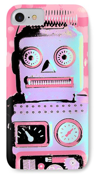 Pop Art Poster Robot IPhone Case by Jorgo Photography - Wall Art Gallery