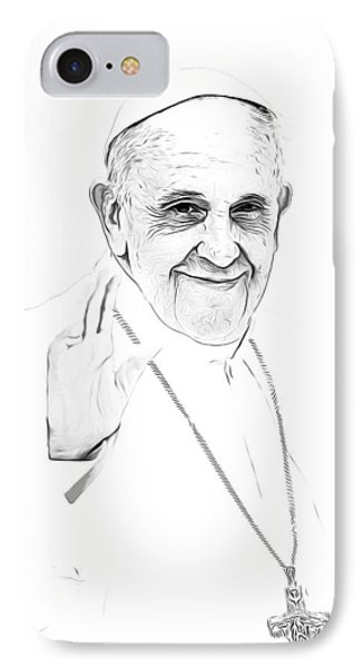 Pope Frances IPhone Case by Munir Alawi