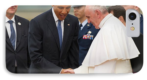 Pope Francis And President Obama IPhone 7 Case by Mountain Dreams