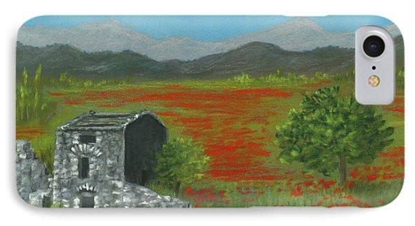 Poppies In Provence  IPhone Case by Anastasiya Malakhova