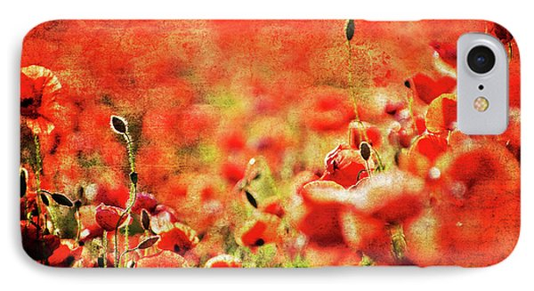 Poppies Phone Case by Meirion Matthias