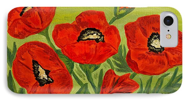 Poppies, Oil Painting IPhone Case by Irina  Afonskaya