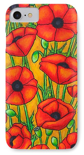 Poppies Under The Tuscan Sun Phone Case by Lisa  Lorenz