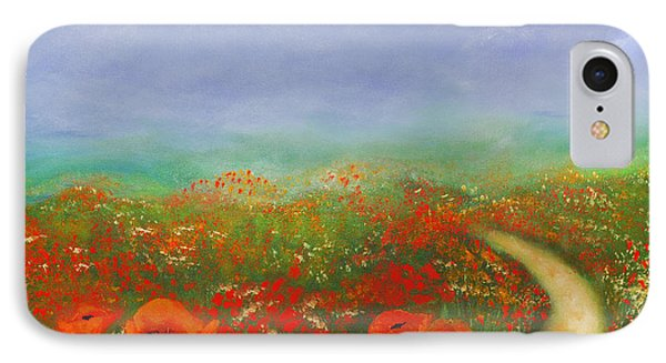 Poppy Field Impressions IPhone Case by Georgiana Romanovna