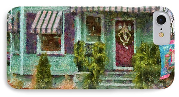 Porch - Westfield Nj - Welcome Friends Phone Case by Mike Savad