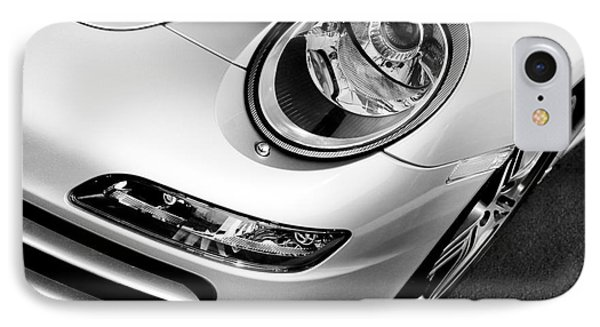 Porsche 911 Black And White IPhone Case by Paul Velgos