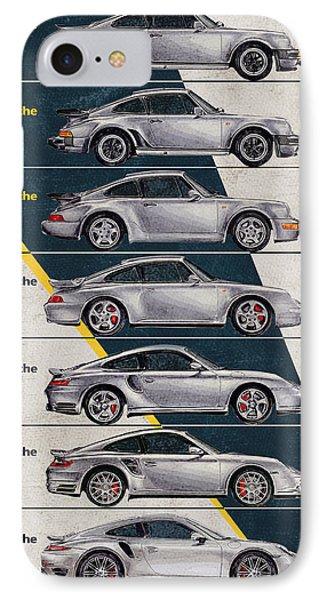 Porsche 911 Turbo Timeline  IPhone Case by Yurdaer Bes