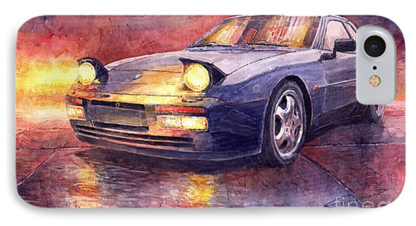 Porsche 944 Turbo IPhone Case by Yuriy  Shevchuk