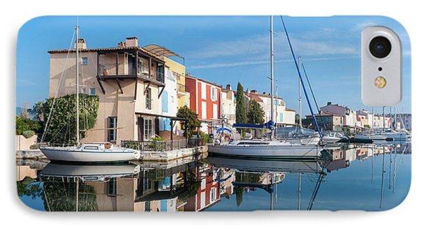Port Grimaud Port With Yachts IPhone Case by Edoardo Nicolino