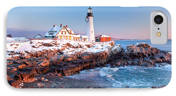 Portland Head Greets The Sun Phone Case by Susan Cole Kelly