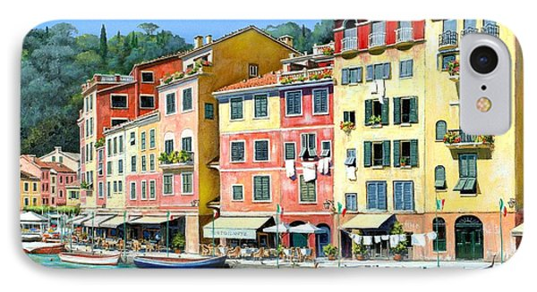 Portofino Sunshine 30 X 40 IPhone Case by Michael Swanson