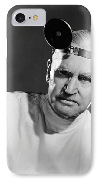 Portrait Of A Doctor IPhone Case by Underwood Archives