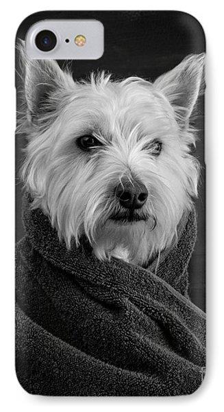Portrait Of A Westie Dog IPhone 7 Case by Edward Fielding