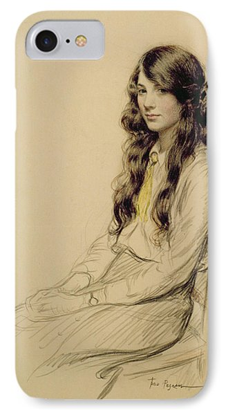 Portrait Of A Young Girl IPhone Case by Frederick Pegram