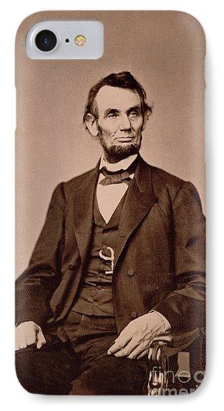 Portrait Of Abraham Lincoln IPhone Case by Mathew Brady