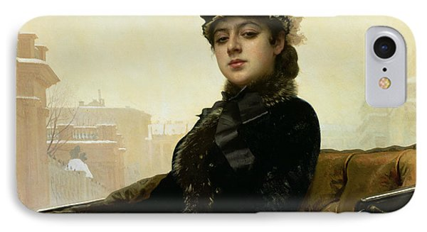 Portrait Of An Unknown Woman IPhone Case by Ivan Nikolaevich Kramskoy