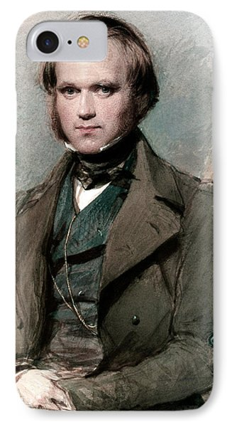 Portrait Of Charles Darwin IPhone Case by George Richmond