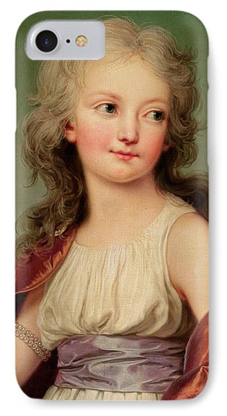 Portrait Of Marie-therese Charlotte Of France IPhone Case by Adolf Ulrich Wertmuller