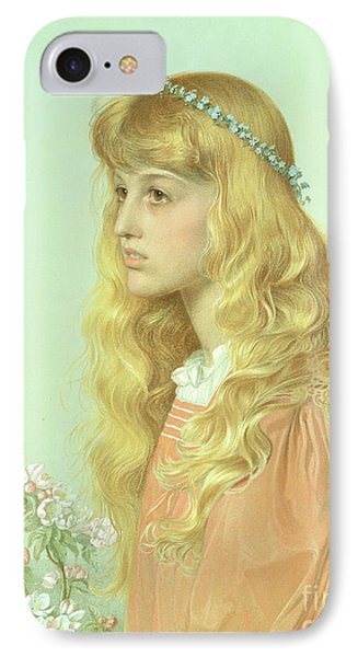 Portrait Of Miss Adele Donaldson, 1897 IPhone Case by Anthony Frederick Augustus Sandys