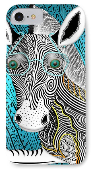 Portrait Of The Artist As A Young Zebra IPhone Case by Becky Titus