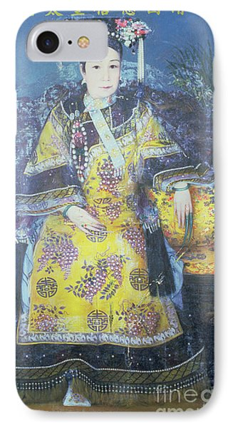 Portrait Of The Empress Dowager Cixi IPhone Case by Chinese School