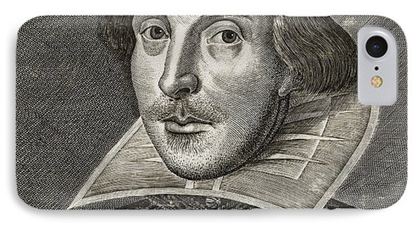 Portrait Of William Shakespeare IPhone Case by Martin the elder Droeshout