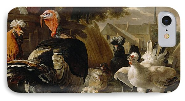 Poultry Yard Phone Case by Melchior de Hondecoeter