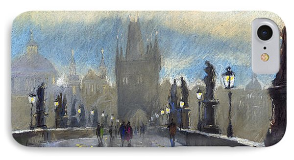 Prague Charles Bridge 06 IPhone Case by Yuriy  Shevchuk