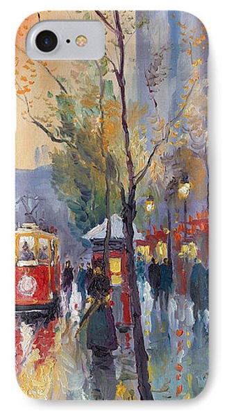 Prague Old Tram Vaclavske Square IPhone Case by Yuriy  Shevchuk