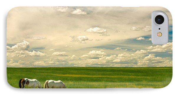 Prairie Horses IPhone Case by Todd Klassy