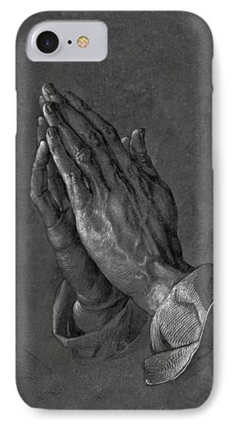 Praying Hands 1508 IPhone Case by Movie Poster Prints