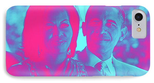 President Barack Obama And The First Lady Michelle Obama IPhone Case by Asar Studios