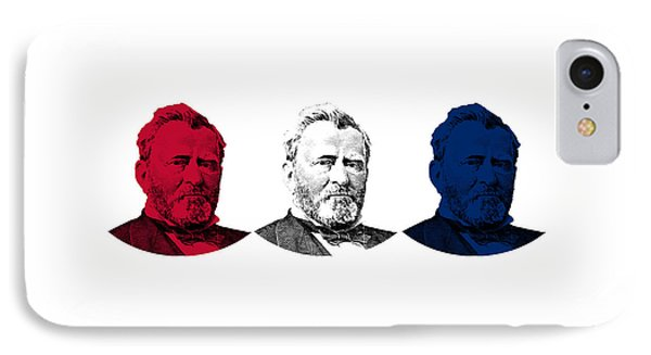 President Grant Red White And Blue IPhone Case by War Is Hell Store