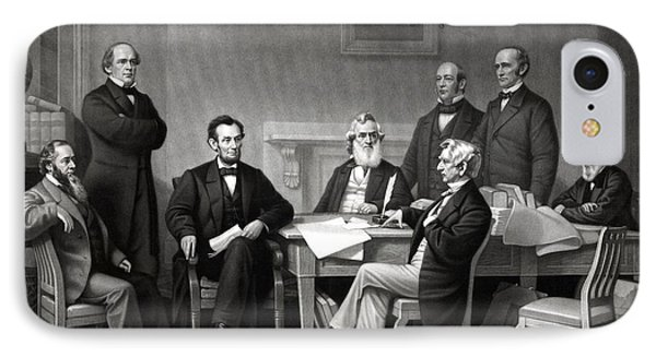 President Lincoln And His Cabinet Phone Case by War Is Hell Store