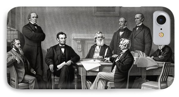 President Lincoln And His Cabinet IPhone Case by War Is Hell Store