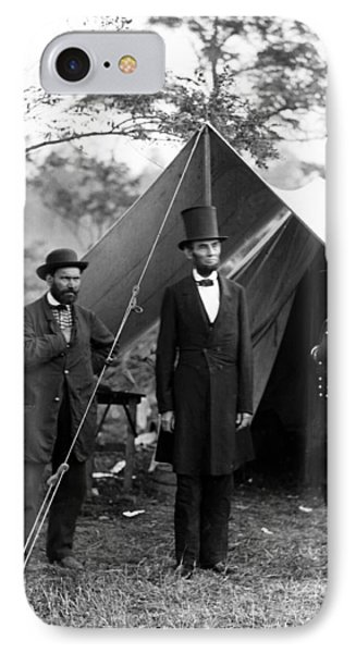 President Lincoln Meets With Generals After Victory At Antietam IPhone Case by International  Images
