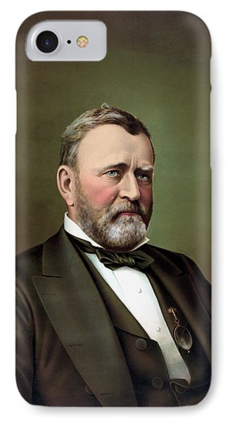 President Ulysses S Grant Portrait IPhone Case by War Is Hell Store