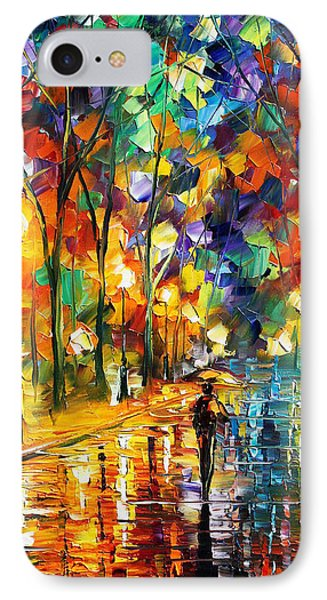 Pretty Night - Palette Knife Oil Painting On Canvas By Leonid Afremov IPhone Case by Leonid Afremov