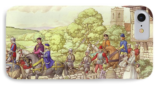 Prince Edward Riding From Ludlow To London IPhone Case by Pat Nicolle