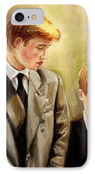 Prince William And Prince Harry IPhone Case by Carole Spandau