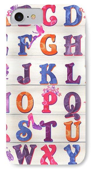 Princess Alphabet IPhone Case by Debbie DeWitt